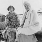 Evalyn McLean and Florence Harding, in Florida 1922. (NFLL)