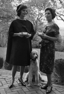 Jacqueline Kennedy with her mothr, Janet Lee Bouvier Aunchincloss in 1960. (Corbis)