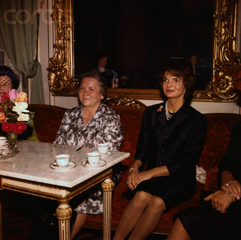 Mrs. Kennedy and Mrs. Khrushchev in Vienna, June, 1961. (Corbis)
