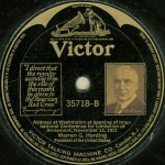 One of the record albums made of Warren Harding delivering a speech. (ebay)