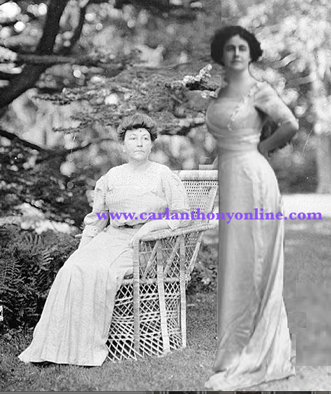 Ellen Wison and Edith Wilson, the two wives of Woodrow Wilson in a composite image.
