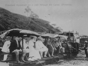 Theodore and Edith Roosevelt at the Panama Canal Zone. (choiceartwork.com)