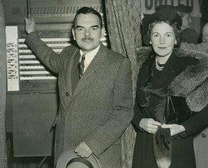 Thomas Dewey voting in 1944 with his wife Frances. (prweb)
