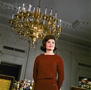 "Jacqueline Kennedy gave a television tour of her restored White House ""project."" (Corbis)"