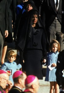 Jacqueline Kennedy with her children at the public funeral of President Kennedy in 1963. (Corbis)