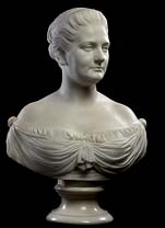 The Rhinehart bust of Harriet Lane. (Smithsonian)