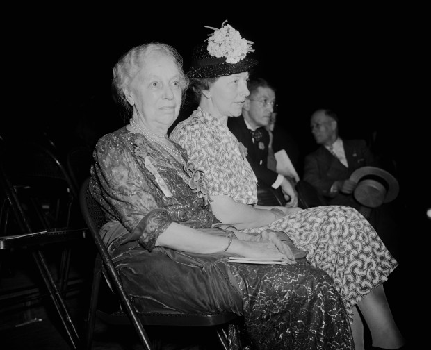 Former First Lady Nellie Taft, seen here with her daughter at the 1940 Republican National Convention, worked with her successor Lou Hoover on mobilization of Red Cross volunteers during the Great Depression. (Corbis)