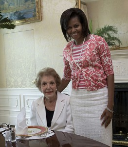The First Ladies together in 2009.{The White House)