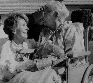 Mrs. Reagan and her mother Edith Davis. (Reagan Library)