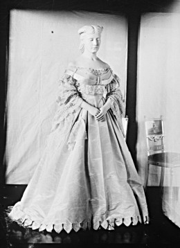Harriet Lane's wedding gown. (Smithsonian)