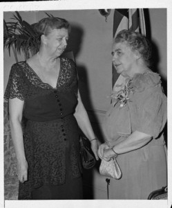 March 15, 1946, Eleanor Roosevelt (l) and Edith Wilson (r), at a Washington dinner honoring Mrs. Roosevelt at a US Delegate to the General Assembly of the United Nations Organization, hosted by the Women's Joint Congressional Committee. (Corbis)