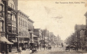 Tuscarawas Street in Canton several years after McKinley's death. (ebay)