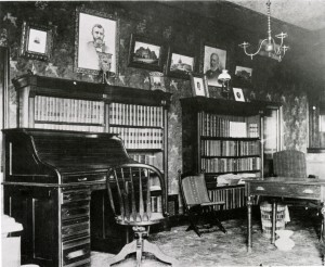 President McKinley's office on the third floor of the Saxton-McKinley House. (NFLL)