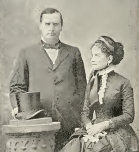 Ida Saxton McKinley and her husband in 1881, when he was serving as a U.S. Congressman. (NFLL)