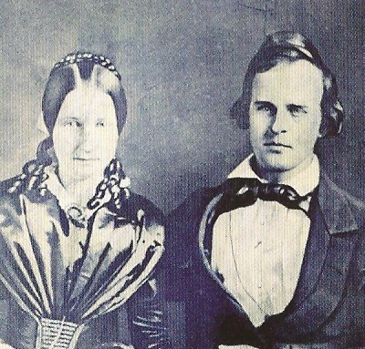 Ida McKinley's parents Kate Dewalt Saxton and James Saxton. (NFLL)