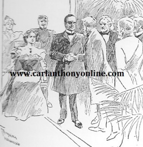 Ida McKinley received guests while seated. (carlanthonyonline.com)
