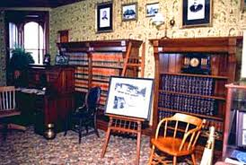 McKinley's restored office in the Saxton-McKinley House today. (NFLL)