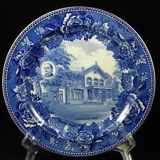 "An 1896 souvenir plate of the McKinley ""Campaign House,"" (ebay)"