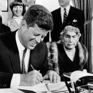 President John F. Kennedy with Edith Wilson just weeks before her death in 1961 (First Ladies by Carl Anthony, volume 2)