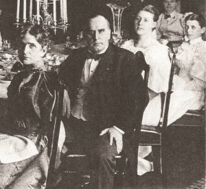 William and Ida McKinley at a dinner party hosted by their friend Mark Hanna and his wife. (Ohio Historical Society)
