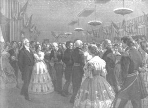 A later depiction of the new President and First Lady James Buchanan and Harriet Lane. (Library of Congress)