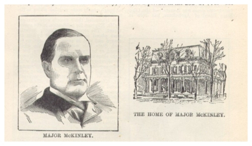 Before his 1896 campaign, William McKinley's home was known by the press and the public to be in the Saxton House. (NFLL)