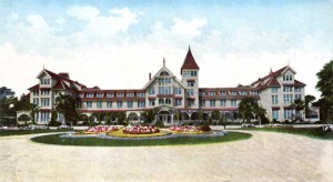 The Del Monte Hotel where First Lady Ida McKinley's grave condition forced the traveling White House to begin issuing public bulletins on her condition. (Alliance of Monterery Area Preservationists)