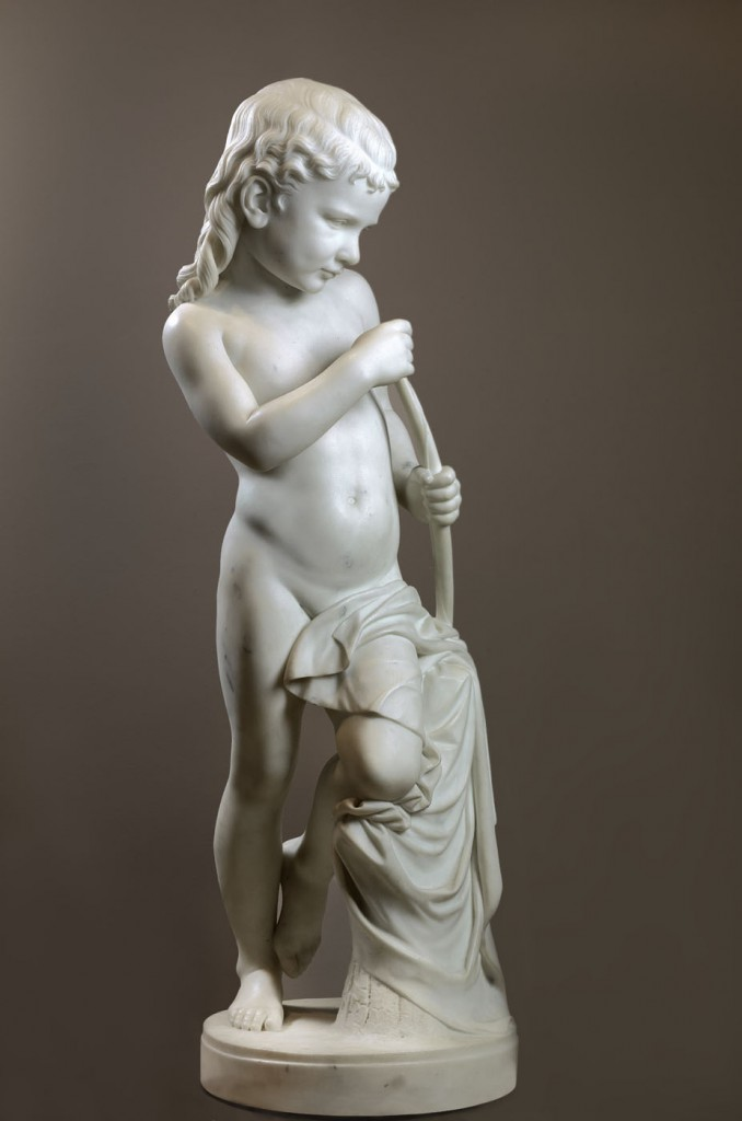 Harriet Lane's son Henry was depicted in the angel sculpture. (Smithsonian)