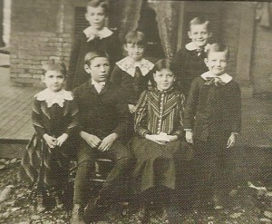 Mary Barber's seven children at the Saxton-McKinley House. (NFLL)