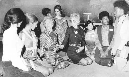 Pat Nixon taking yoga lessons in the White House as part of a women's health education program. (carlanthonyonline.com)