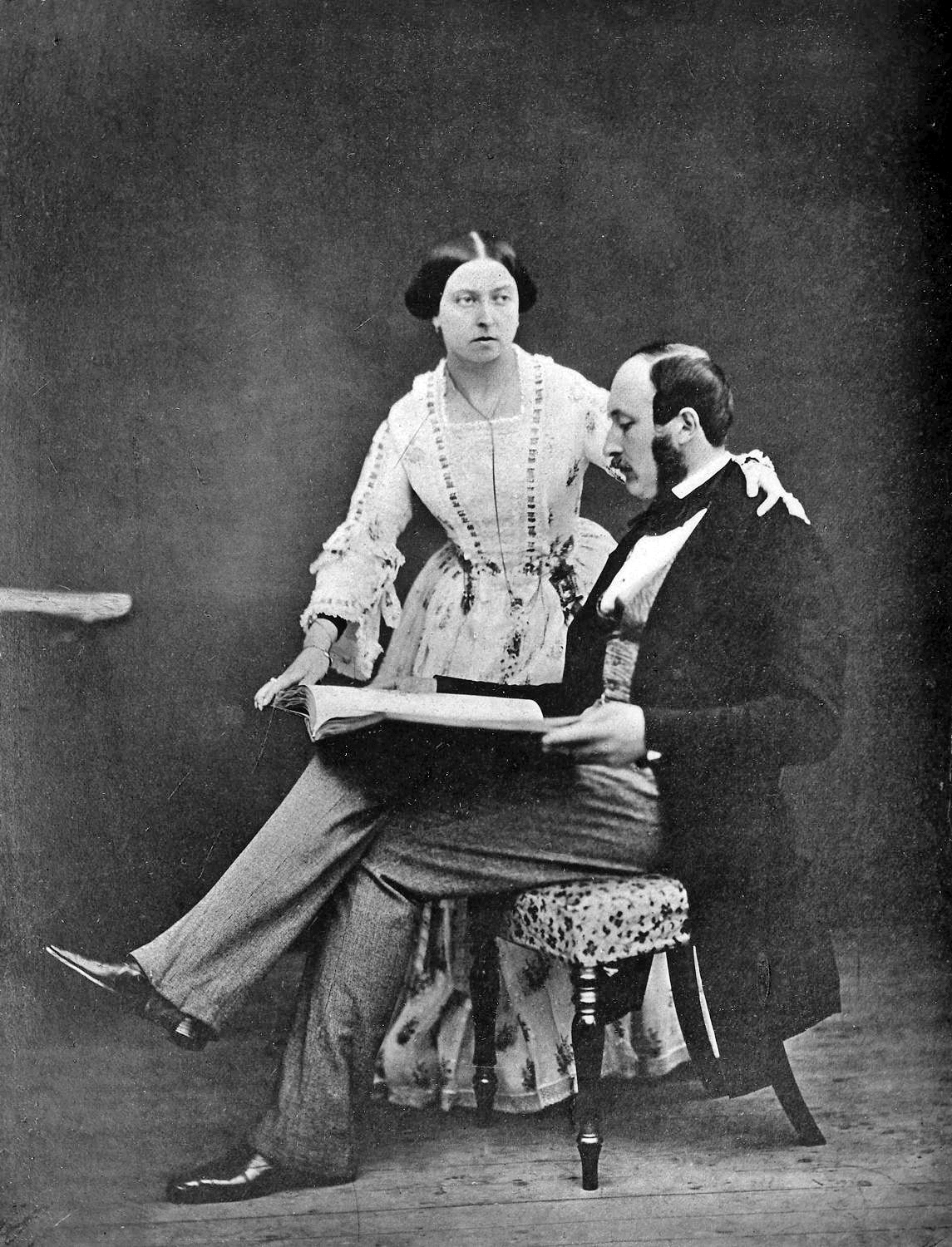 Queen Victoria and Prince Albert in 1854, the year they met Harriet Lane. (Wikipedia)