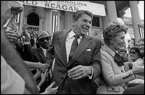 Nancy Reagan campaigns with her husband in North Carolina in 1980.