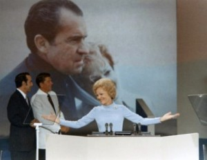 Pat Nixon was the second First Lady to address a national presidential convention, 1972.