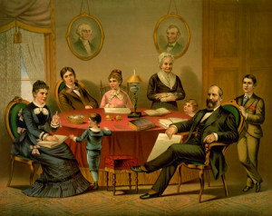 The James Garfield family. (LC)