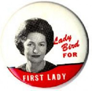A button from the 1964 campaign. (ebay)