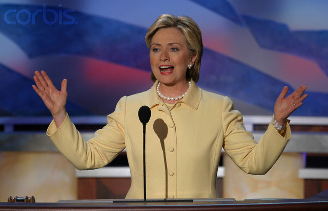 Hillary Clinton at the 2004 Democratic Convention. (Corbis)