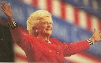 Barbara Bush during a 1992 campaign event. (Time)