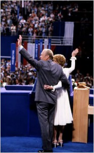 Betty Ford joined her husband at the podium of the 1980 Republican Convention (GRFL)