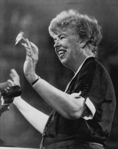 Eleanor Roosevelt at the 1952 Democratic National Convention.