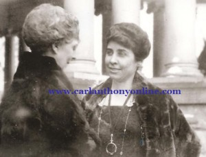 Florence Harding and Grace Coolidge meet in Marion, Ohio, after the 1920 election.