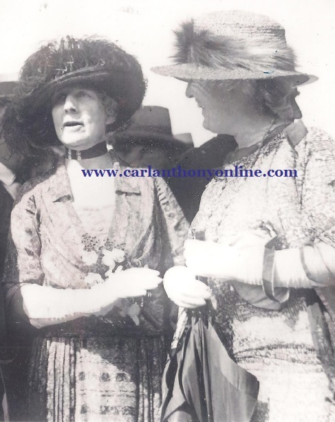 Florence Harding and Lou Hoover in Portland, Oregon, July 1923.