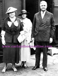 Mrs. Wilson arrives at the 1936 convention with Jesse Jones and his wife. (carlanthonyonline.com)