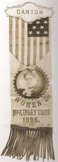 Ida McKinley campaign ribbon badge. (NFLL)