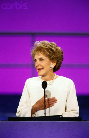 Nancy Reagan at the 1996 Republican Convention. (Corbis)