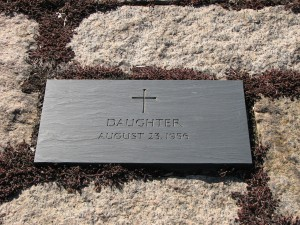 The gravestone of the Kennedy daughter whom Jacqueline Kennedy informally and privately referred to as Arabella.