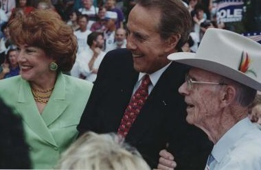 Elizabeth and Bob Dole campaigning in 1996. (Corbis)