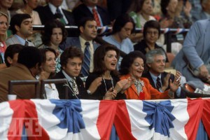 Jackie Kennedy Onassis at the 1976 Democratic Convention. (Corbis)