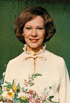 Rosalynn Carter in the White House Green Room (The Carter Center)