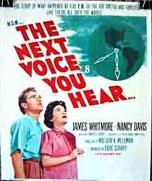 A poster advertising Nancy Reagan's appearance in the Next Voice You Hear.
