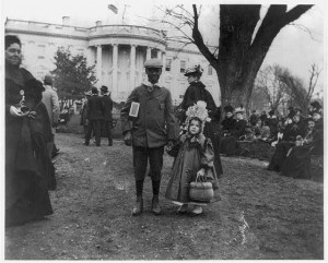 Children of all races were welcomed in the pre-Jim Crow Washington 1890s at the White House Easter Egg Roll. (Library of Congress)